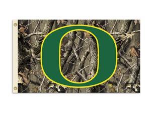 BSI Products 95451 Oregon Ducks- 3 ft. X 5 ft. Flag W-Grommets- Realtree Camo Background