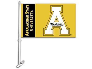 Appalachian State Car Flag W/Wall Brackett Set of 2