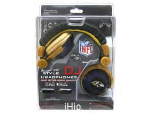 NFL Team Logo DJ Headphone - Baltimore Ravens