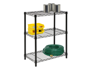3 Tier Black Shelving Unit- 250Lb