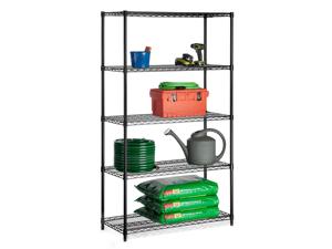 Five Tier Black Storage Shelves 800Lb