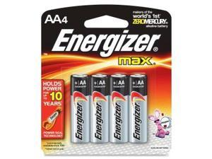 4 Pk, AA Energizer Max Battery E91BP-4