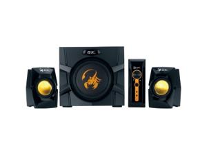 Genius GX Gaming SW-G2.1 3000 2.1 Speaker System - 70 W RMS - Black, Yellow