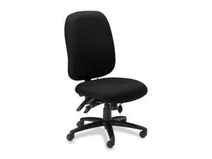 Mayline 24-Hour High-Performance Task Chair, Black Leather
