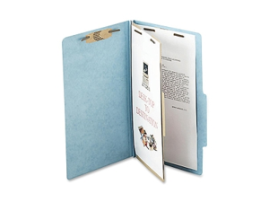 Acco Brands- Inc. ACC16024 Classification Folders- 2in. Exp- Legal- 1 Partition- Sky Blue