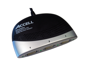 Accell UltraAV K087B-005B DisplayPort to DVI-D Multi-Monitor Cable Adapter
