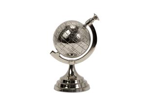 Celio Aluminum Globe by Imax - by Imax