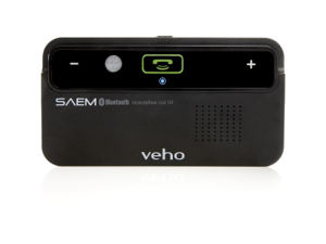 Veho VBC-001-BLK SAEM Bluetooth Handsfree Car kit with Motion Sensor Power Save Function (2 years Standby Battery)