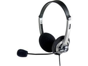 SYBA CL-AUD63074 Lightweight, Over the Head, On the Ear Stereo Headset with Boom Mic., and In-line Volume Control