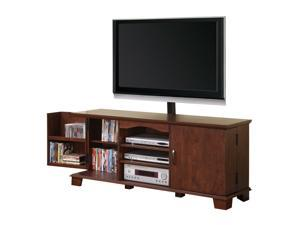 "60"" Wood TV Console with Mount and Storage - Brown By Walker Edison"