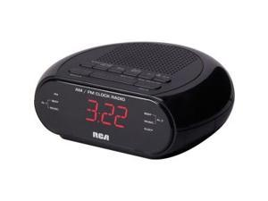 RCA RC205 Alarm Clock Radio with Red LED & Dual Wake