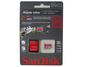 SanDisk Mobile Ultra 32GB microSD microSDHC Card with SD Adapter (SDSDQU-032G-U46A) **Newest Class 10 Version*** Ship from ...