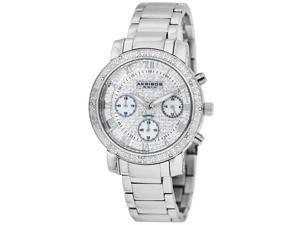 Akribos XXIV Women's Stainless Steel Diamond Chronograph Bracelet Watch