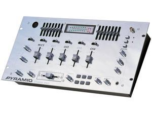 Pyramid - 4 Channel Rack Mount Stereo Mixer W/14 Band Equalizer & 6 Sound Effects (Refurbished)
