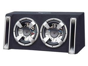 Lanzar - Vector 2400 Watts Dual 12'' Slim Designed Bass Box Enclosure