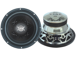 "Lanzar - Vibe 10"" 1200 Watt 4 Ohm Chrome Subwoofer"