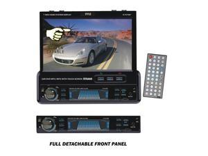 Pyle - 7'' Single DIN In-Dash Motorized Touch Screen TFT/LCD Monitor w/ DVD/CD/MP3/MP4/USB/SD/AM-FM/RDS/Bluetooth & Screen ...