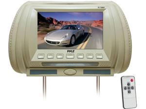 Pyle - Adjustable Hideaway Headrest 7'' TFT Video Monitor (Tan)