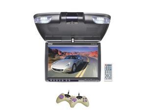 Pyle - 12.1'' TFT LCD Flip-Down Roof Mount Built-In DVD Player w/ FM Modulator/IR Transmitter