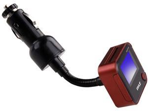 PyleHome - Plug In Car Gooseneck Mount FM Transmitter With Built-in SD/USB/MP3 (Red Color)