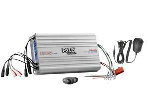 Pyle - 4 Channel Marine Power Amplifier/Public Address System