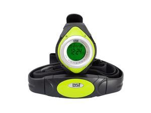 Pyle - Heart Rate Monitor Watch W/Minimum, Average Heart Rate, Calorie Counter, and Target Zones(Green Color)