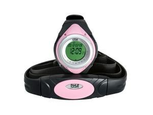 Pyle - Heart Rate Monitor Watch W/Minimum, Average Heart Rate, Calorie Counter, and Target Zones(Pink Color)