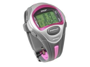 Pyle - Marathon Runner Watch, Ladies, w/ Target Time Setting, Time Alert, 150 Lap Chronograph Memory (Pink Color)