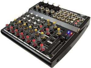 PylePro - 12 Channel Professional Audio Mixer with 3 Band EQ