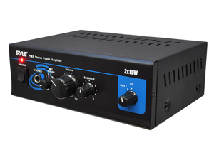 PyleHome - Mini 2X15W Stereo Power Amplifier (Refurbished)