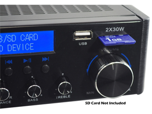 PyleHome - 60 Watts/ Hi-Fi Mini Amplifier USB/SD Card Player (Refurbished)