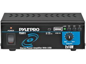 PyleHome - Mini 2x15 Watt Stereo Power Amplifier w/ USB Input