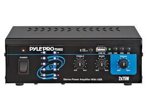 PyleHome - Mini 2 x 75 Watts Stereo Power Amplifier With USB Input
