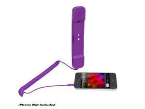 Handset for iPhone, iPad, iPod, and Android Phones - Easy Use - Purple