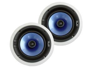 "PyleHome - 300 Watt High-End 8"" Two-Way In-ceiling Speaker System w/Adjustable Treble Control"