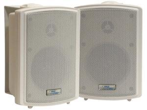 PyleHome - 3.5'' Indoor/Outdoor Waterproof Speakers w/15 Watt 70V Transformer