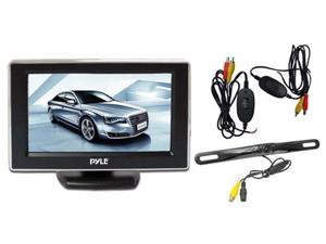 4.3'' Monitor Wireless Back-Up Rearview & License Plate Camera System