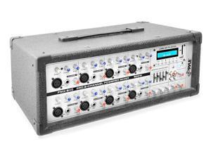 PylePro - 8-Channel 800 Watt Bluetooth Mixer with Balanced Mic & Line Inputs, USB & SD Card Readers