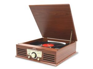 PyleHome - Bluetooth Classic Vintage Style Record Player Turntable Phonograph with Vinyl to MP3 Recording, USB/SD Card Readers, ...