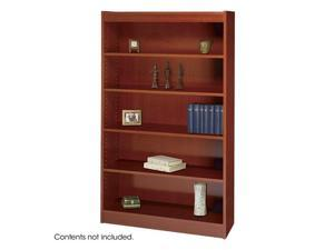 "Safco 1504CY 5-Shelf Square-Edge Veneer Bookcase 36""w x 12""d x 60""h Cherry - OEM"