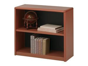 "Safco 7170CY 2-Shelf ValueMate® Economy Bookcase 31 3/4""w x 13 1/2""d x 28""h Cherry"