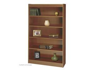 "Safco 1504MOC 5-Shelf Square-Edge Veneer Bookcase 36""w x 12""d x 60""h Medium Oak - OEM"