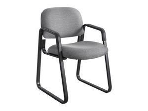 "Safco 7047GR Cava Urth Sled Base Guest Chair 22 1/2""W x 24""D x 32 1/2""H (Gray)"