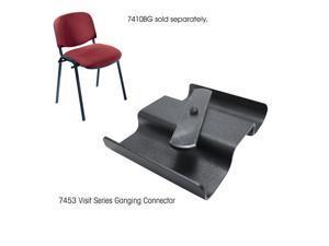 """Safco 7453 Visit Black Ganging Connector 3 1/2""""w x 2""""d x 1""""h Black - OEM"""