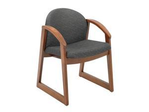 """Safco 7920BL1 Urbane® Cherry Side Chair with Arms 22 3/4""""w x 23""""d x 31 1/4""""h Black fabric, Cherry finish frame - OEM"""