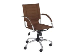 "Safco 3456BR Flaunt™ Managers Chair Brown Micro Fiber 25"" dia x 37"" to 40""h Brown - OEM"