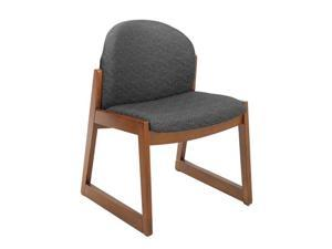 "Safco 7950BL1 Urbane® Cherry Side Chair with no Arms 22 3/4""w x 23""d x 31 1/4""h Black fabric, Cherry finish frame - OEM"