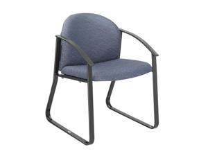 """Safco 7970BU1 Forge® Collection Single Chair with Arms 23 1/2""""w x 23""""d x 31 1/4""""h Blue fabric, Black frame - OEM"""