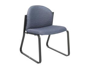 "Safco 7980BU1 Forge® Collection Single Chair with no Arms 23 1/2""w x 23""d x 31 1/4""h Blue fabric, Black frame - OEM"