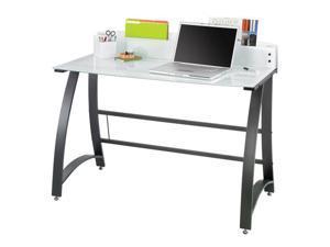 "Safco 1938TG Xpressions™ 47"" Computer Workstation 47""w x 23""d x 37""h Tempered Glass&#59;Black (frame) - OEM"